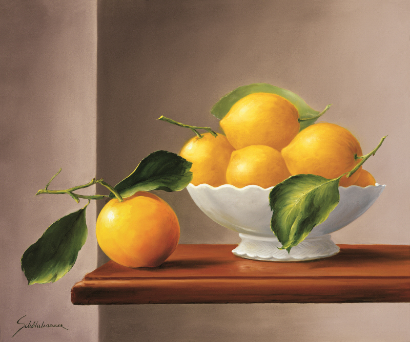 Lemons with Green