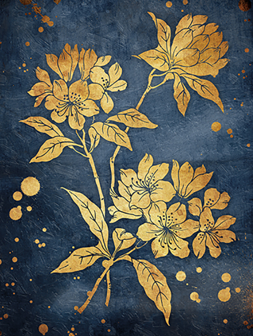Floral Golden Blues