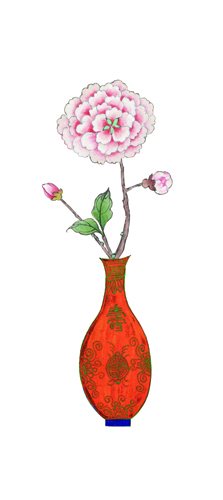 WHHACHHO 꽃병 분홍