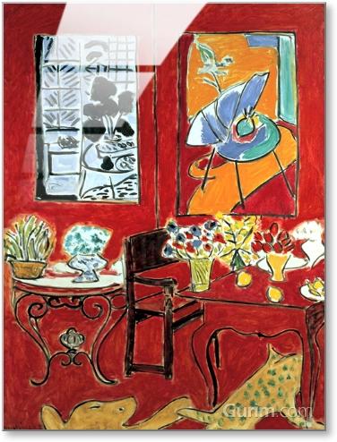 Grand intérieur rouge, 1948