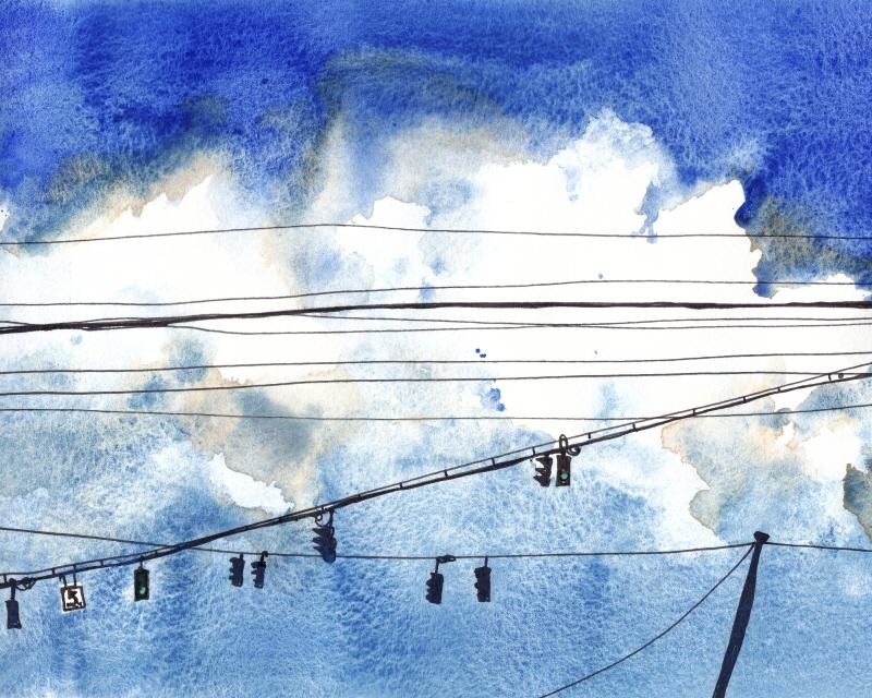 Urban Lines & Poles IV