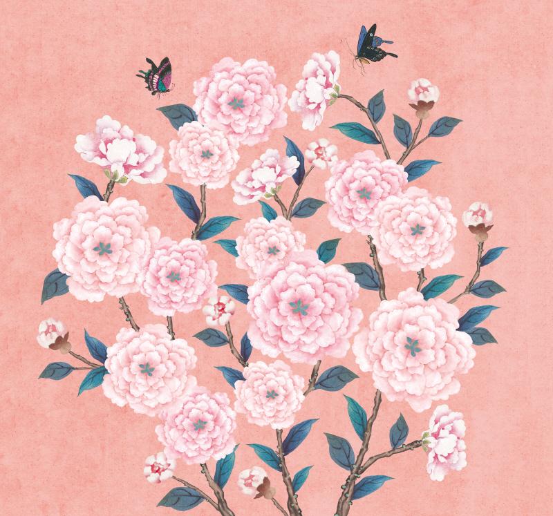 꽃가지 네츄럴 연분홍