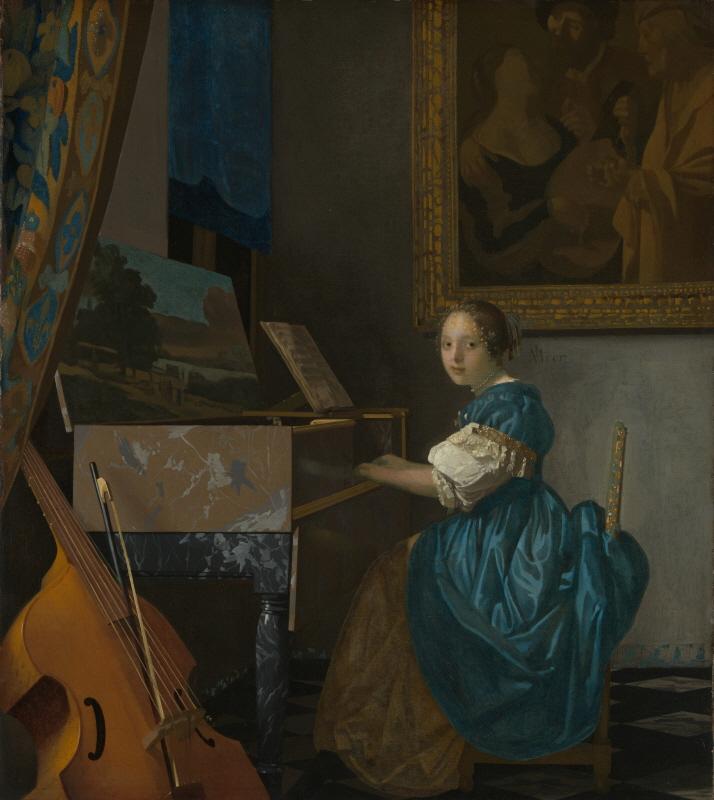 Lady Seated at a Virginal (버지널 앞에 앉아있는 젊은여인)