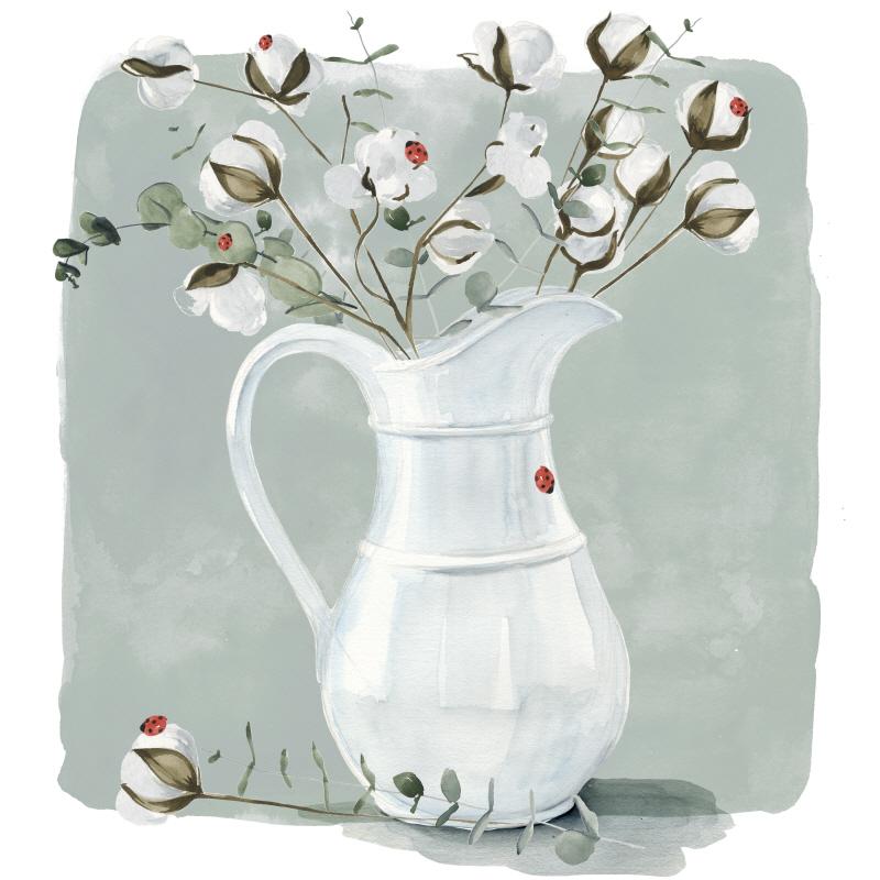 Cotton Bouquet II