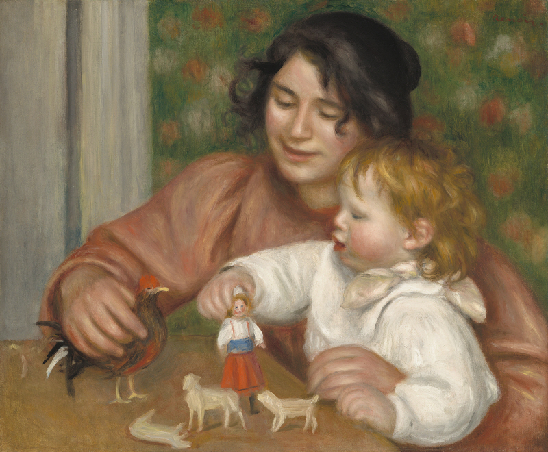 Child with Toys, Gabrielle and the Artist's Son