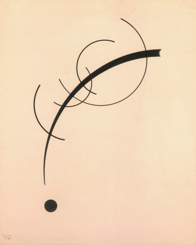 kandinsky free curve to the point