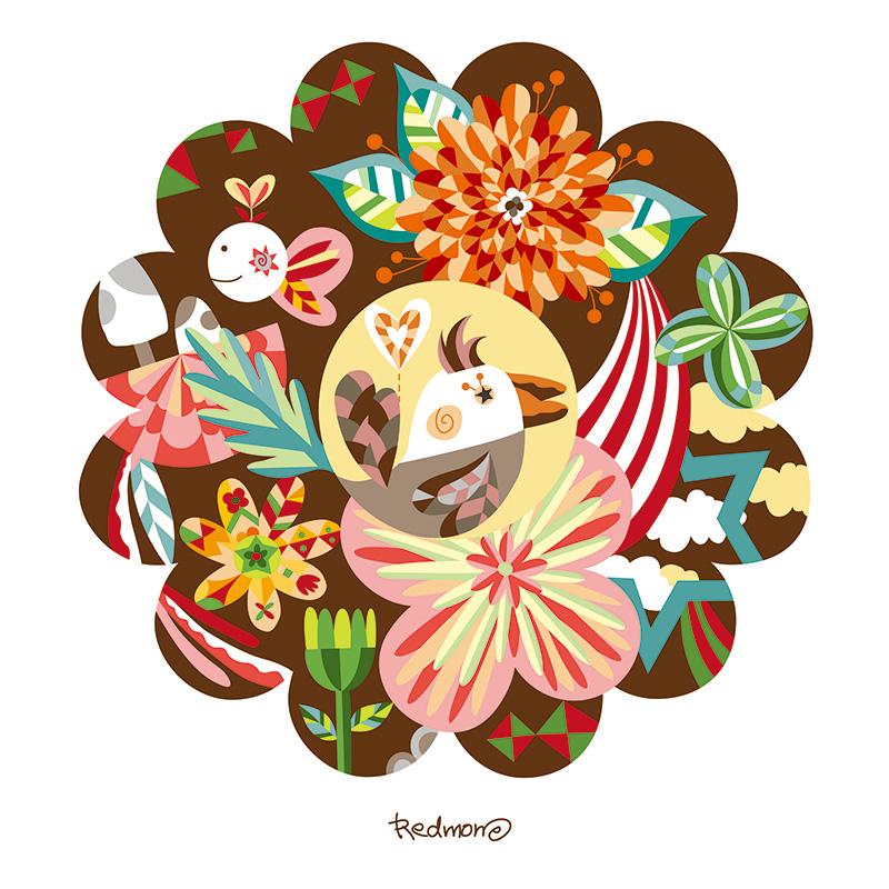 꽃의 숲 - 브라운