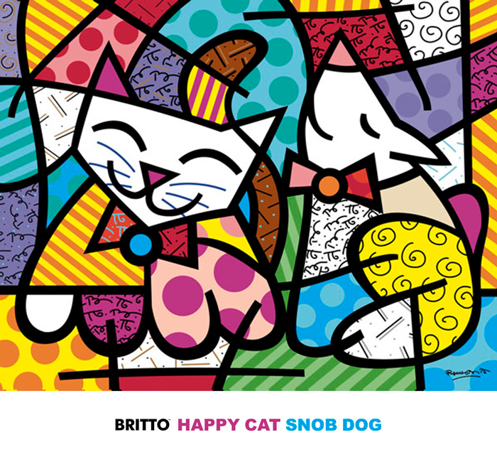 Happy Cat and Snob Dog
