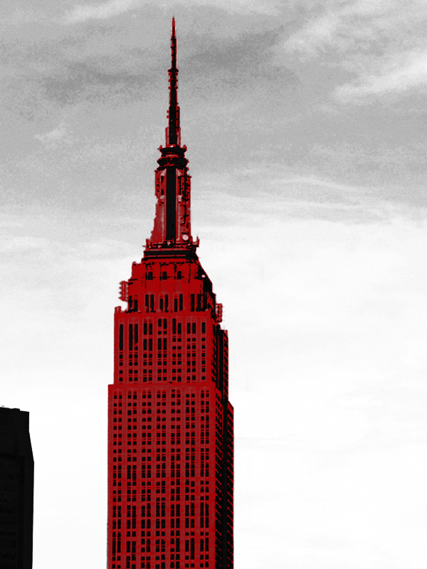 Red Empire State Building