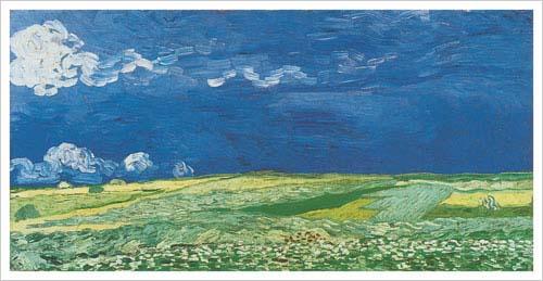 Wheat Fields Under A Clouded Sky