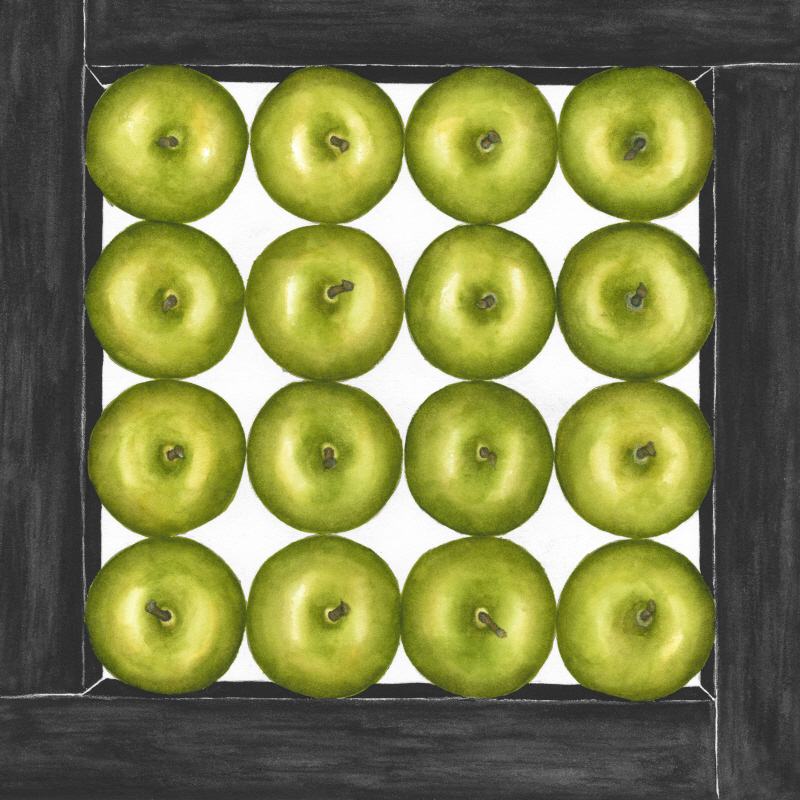 Green Apples Cubed