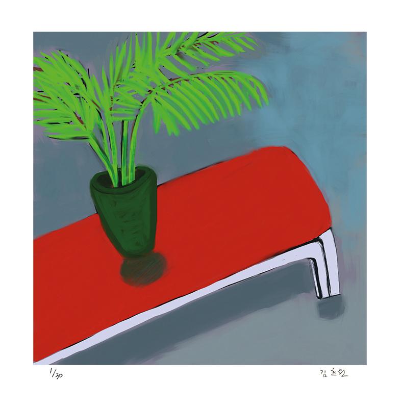 빨간 의자가 있는 풍경 (30 Editions)