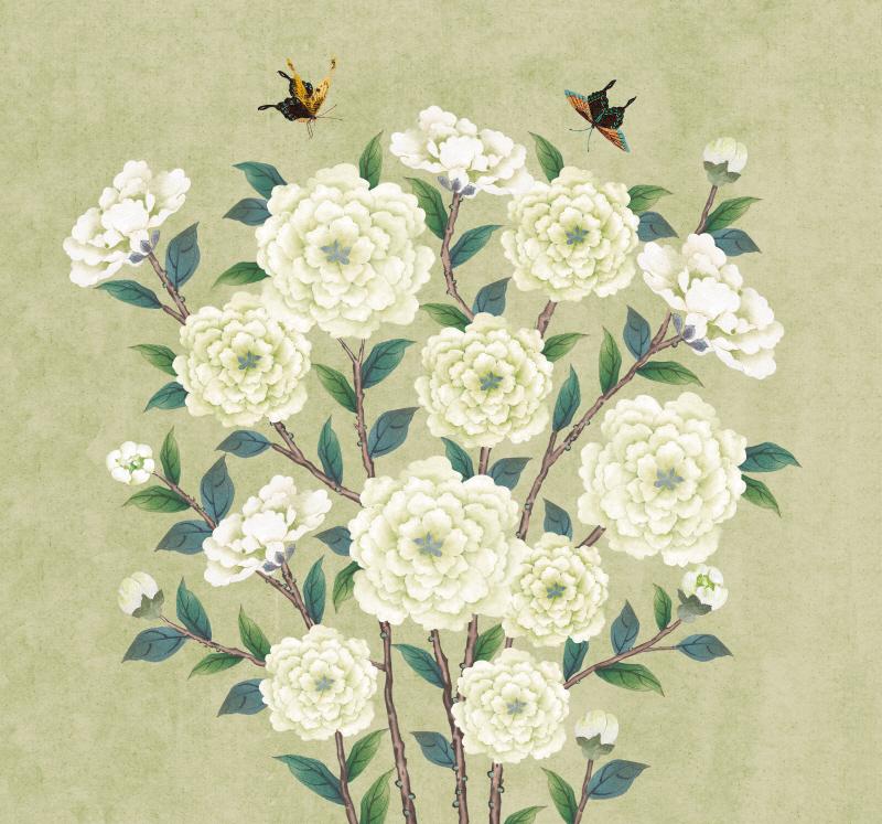 꽃가지 네츄럴 단초록