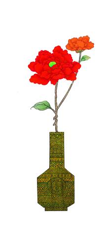 WHHACHHO 꽃병 빨강