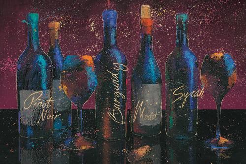 Wine Splash Dark I