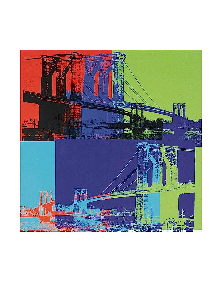 Brooklyn Bridge, 1983 (orange, blue, lime)