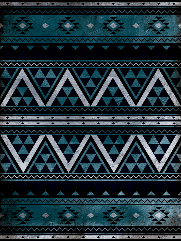 Aztec Trio Blue I