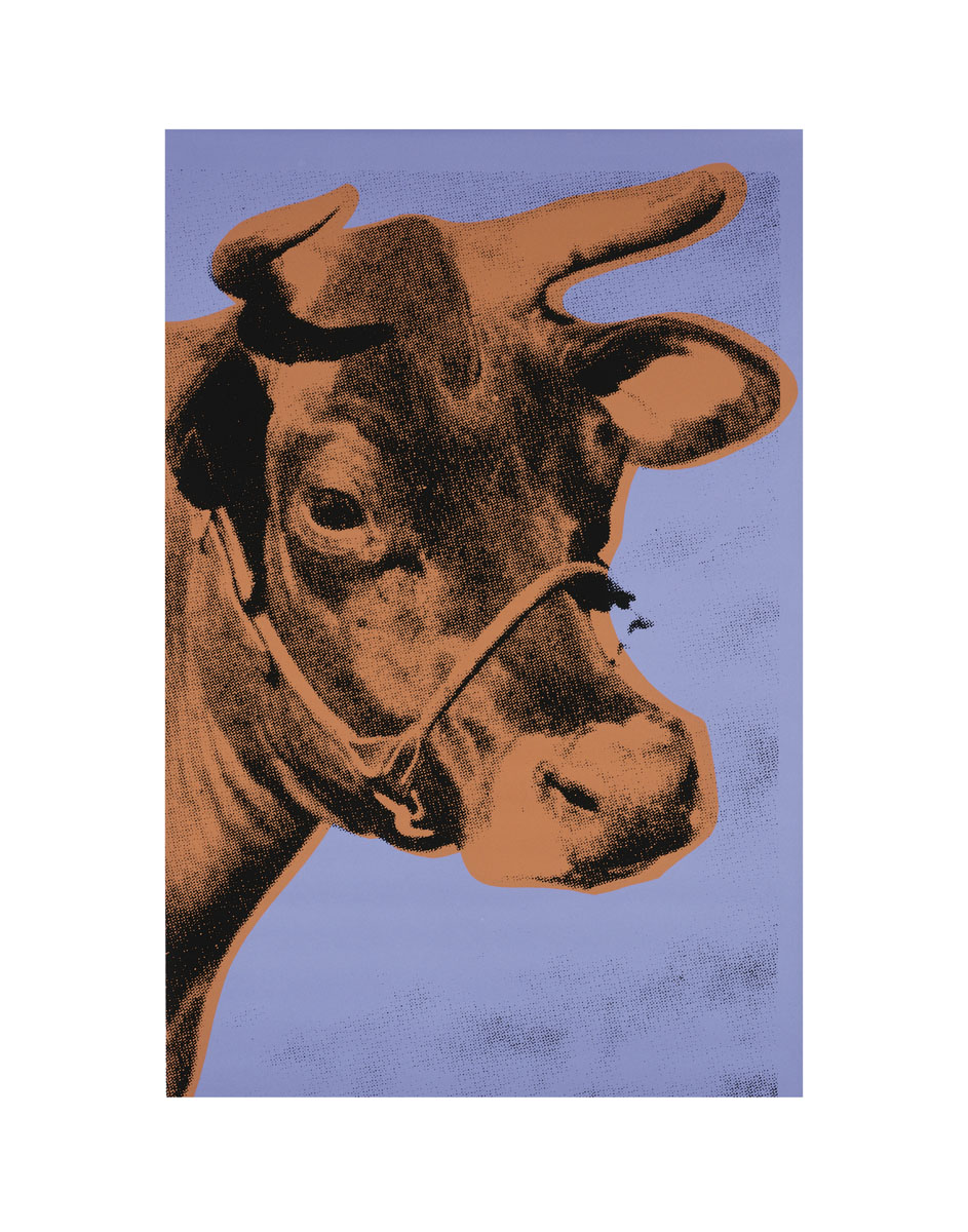 Cow, 1971 (purple & orange)