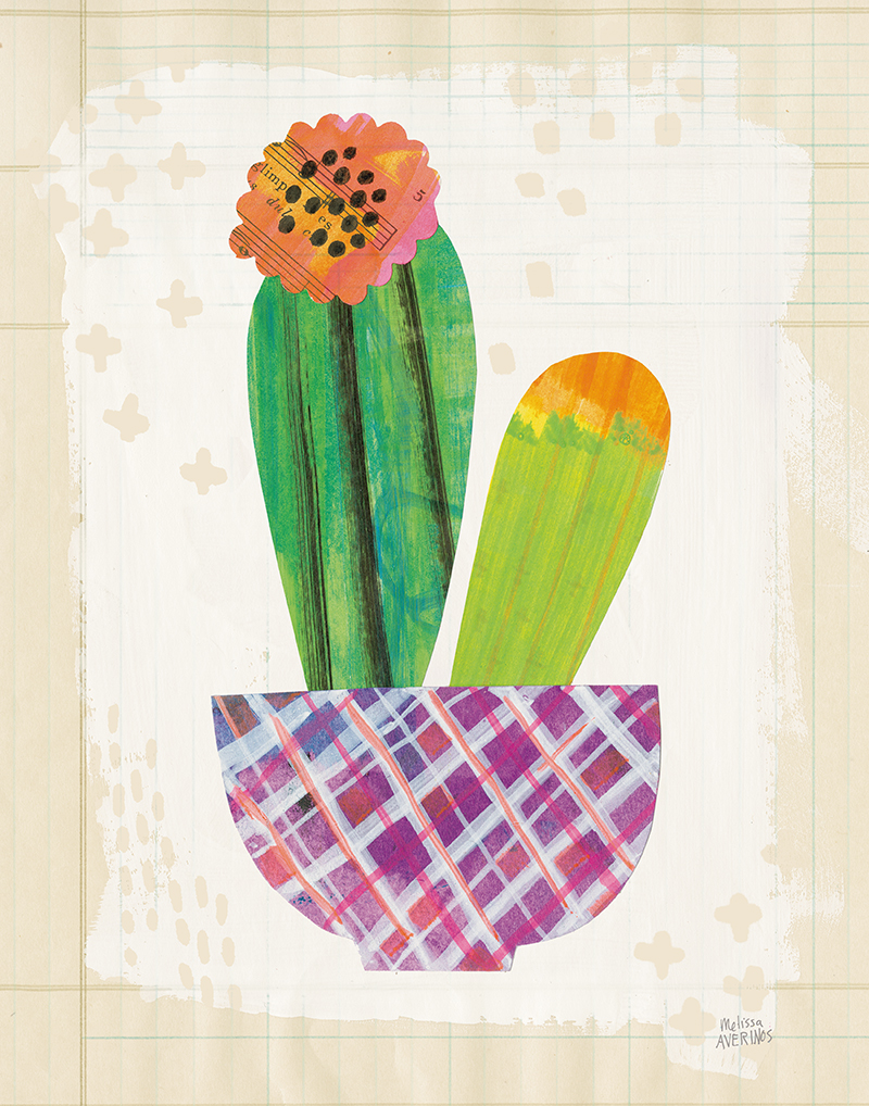 Collage Cactus II on Graph Paper