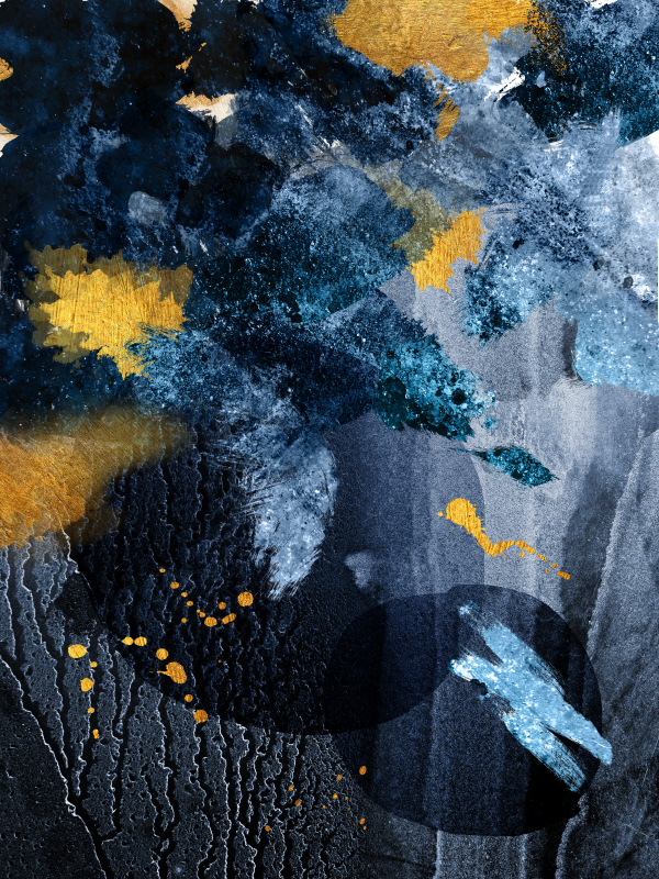 Abstract Blue and Gold