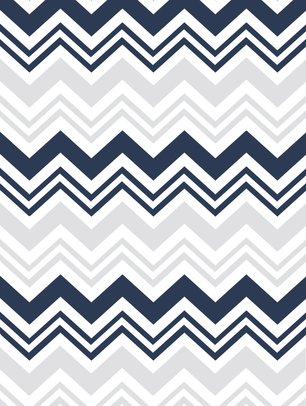 Blue Grey Chevron