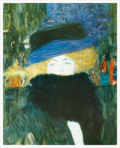 Dame mit Hut und Federboa (Lady with Hat and Feather Boa), 1909
