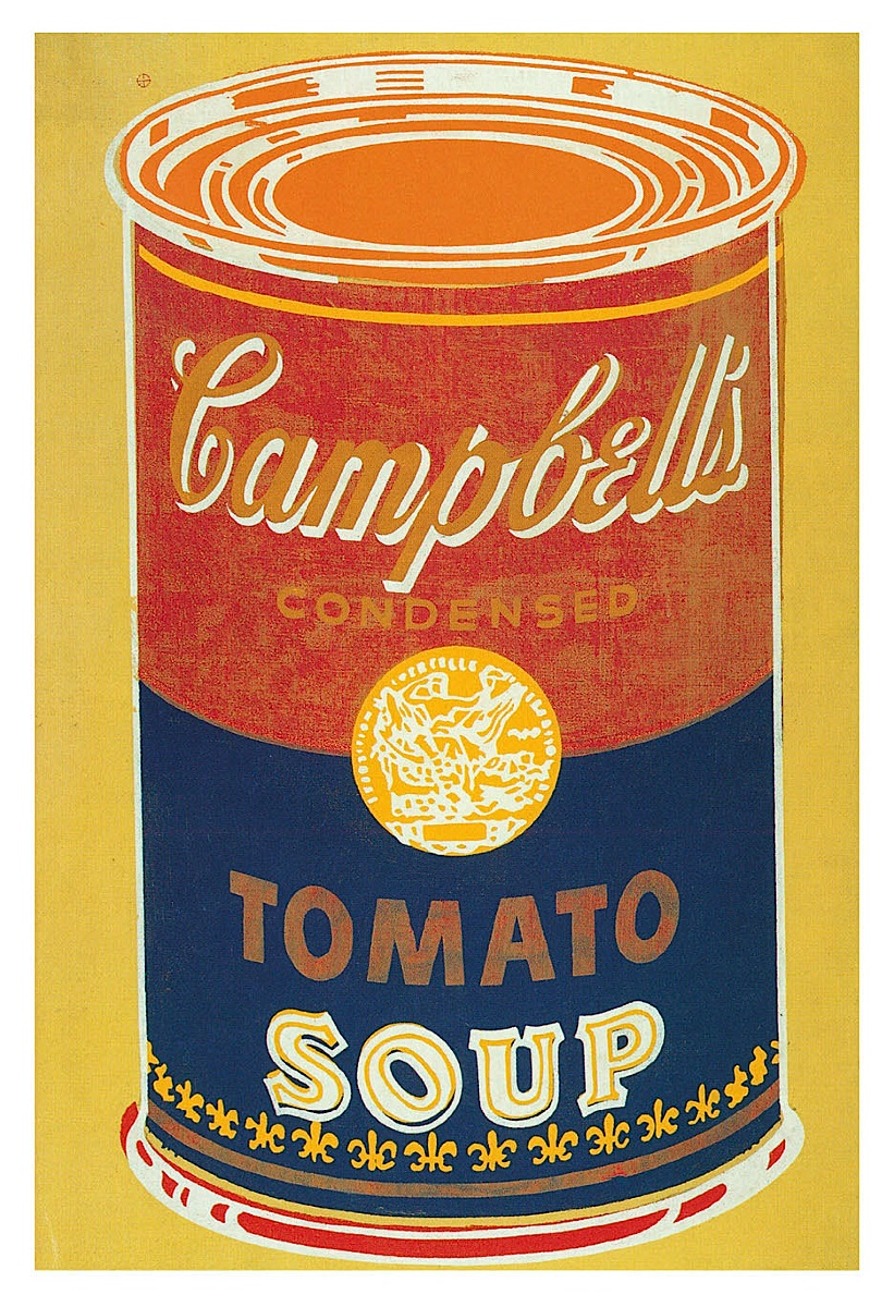 Colored Campbell's Soup Can, 1965 (yellow & blue)