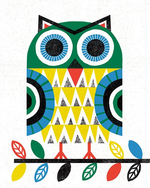 Folk Lodge Owl