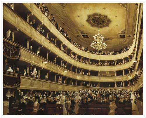The Auditorium of the Old Castle Theatre / Auditorium in the Old Burgtheater, Vienna