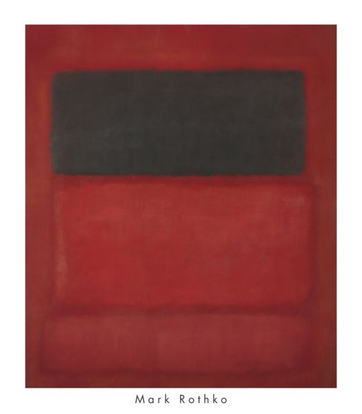 Black over Reds (Black on Red), 1957