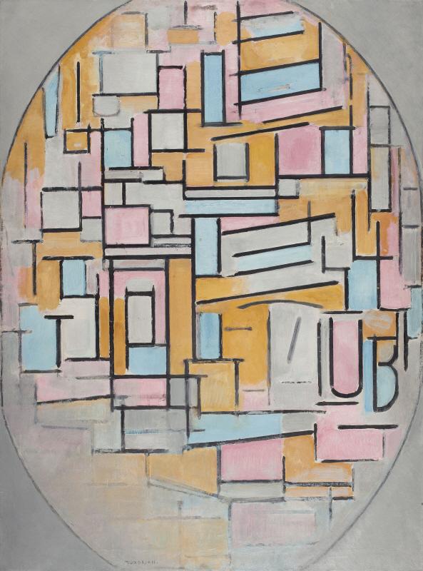 Compositie in Ovaal Met Kleurvlakken II, 1914