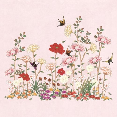 민화 WHHACHHO 화초밭 분홍