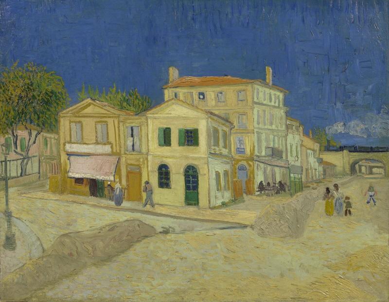 The yellow house (The street) (아를의 노란집)