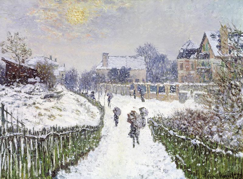 Boulevard Saint-Denis, Argenteuil, in Winter, 1875