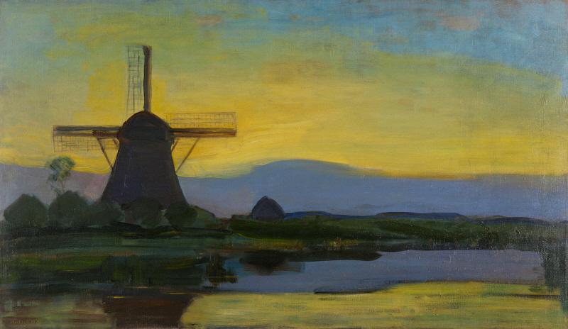 Oostzijde Windmill at Night