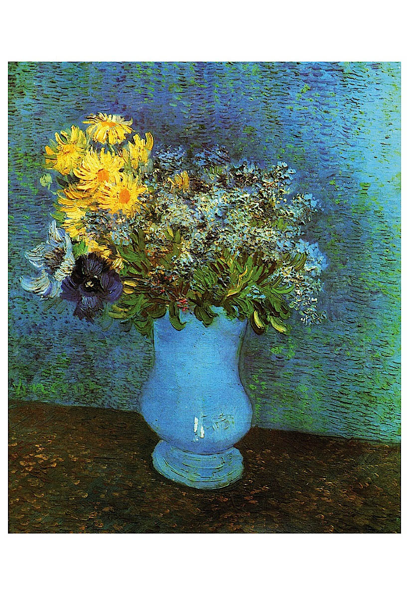 Vase with Lilacs, Daisies and Anemone