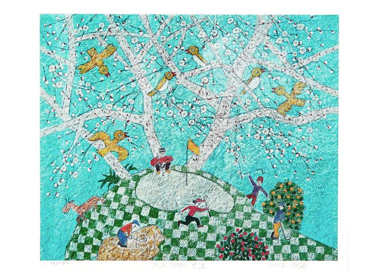자유로운 화면구성과 화려하고 풍부한 색채를 담아내는 한국의 동양화가 이왈종 작가의 작품으로 우리집을 꾸며보세요, 당신의 공간이 매력적으로 변합니다