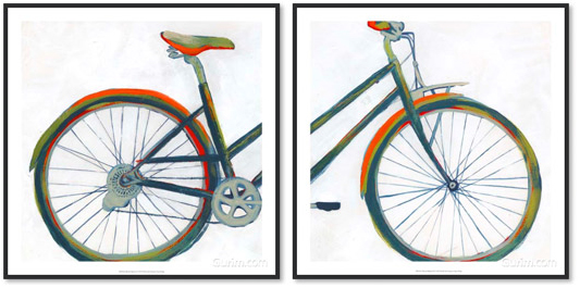 Bicycle Diptych 세트