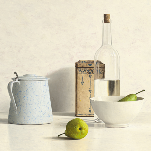 2 Pears, Bottle, Can and Jug