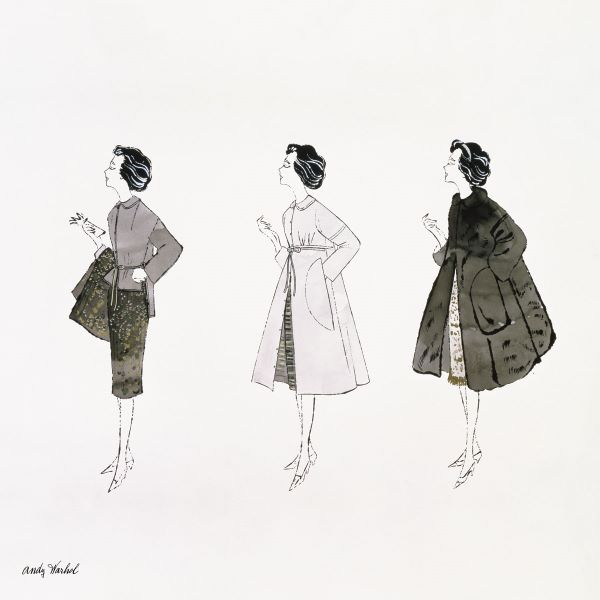 Untitled (Three Female Fashion Figures), c. 1959