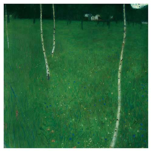 Farmhouse with Young Birch Trees