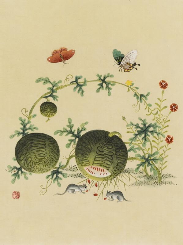 신사임당 (초충도_수박과 들쥐)