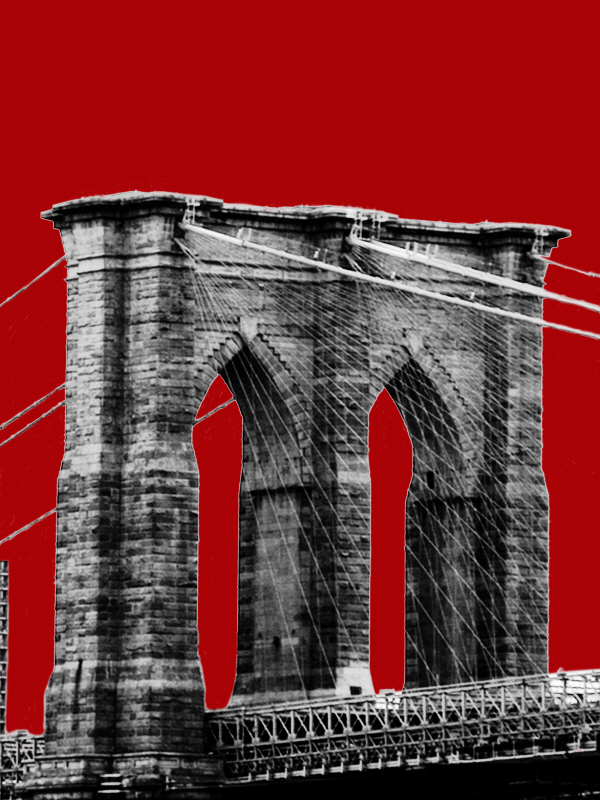 Brooklyn Bridge on Red