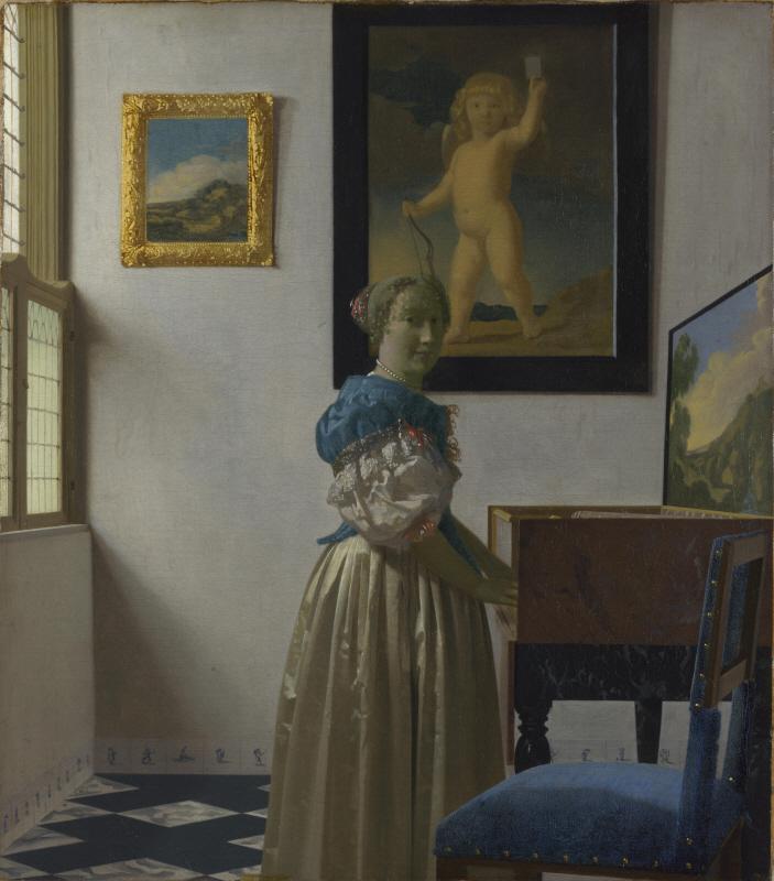Lady Standing at a Virginal (버지널 앞에 서있는 젊은여인)