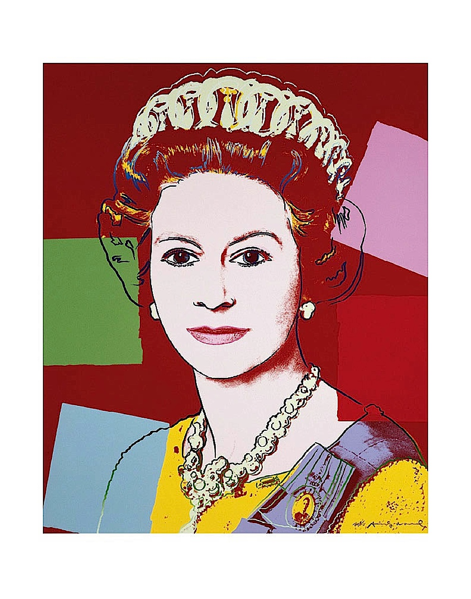 Reigning Queens: Queen Elizabeth II of the United Kingdom, 1985 (dark outline)