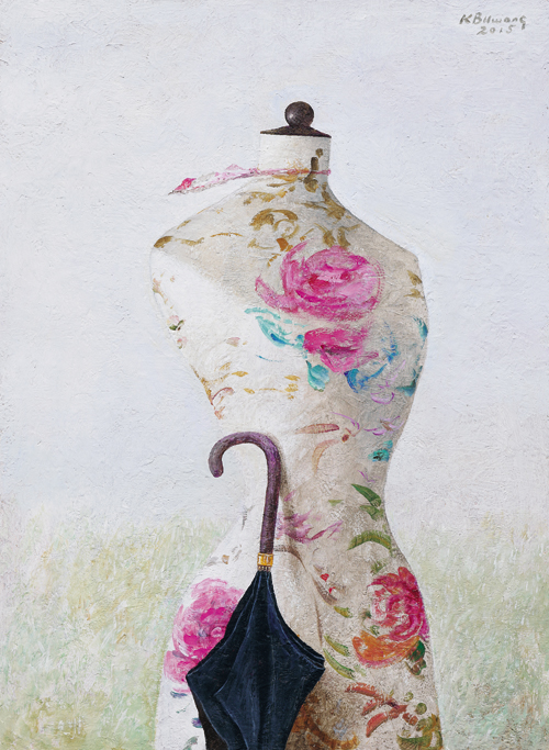 Mannequin with an Umbrella