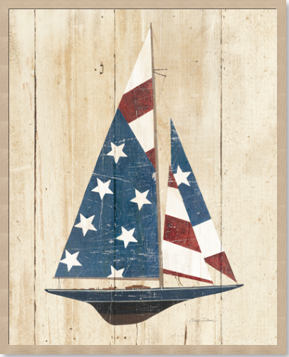 American Flag Sailboat