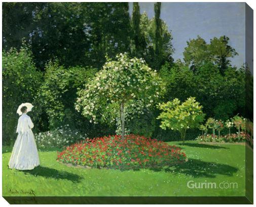 Jeanne Marguerite Lecadre in Her Garden, 1866