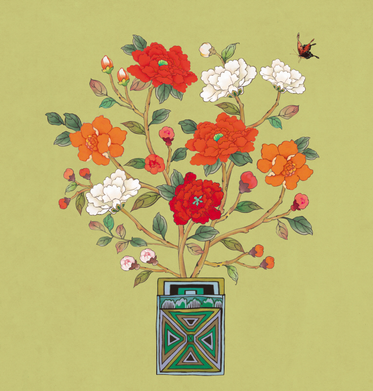 사랑꽃병 겨울 카키