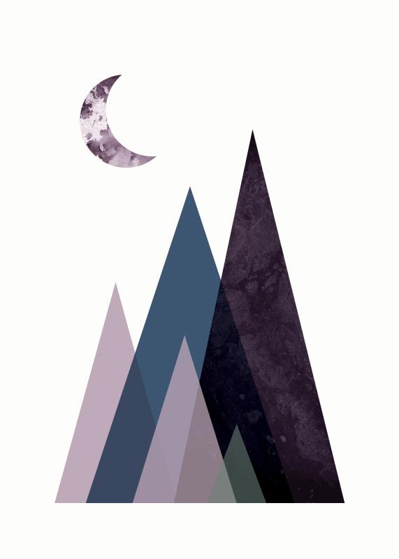 Scandi Mountains Blue I